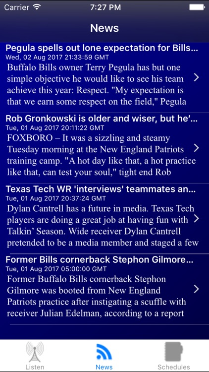 Buffalo Football Live - Radio, ,Schedule, News screenshot-3
