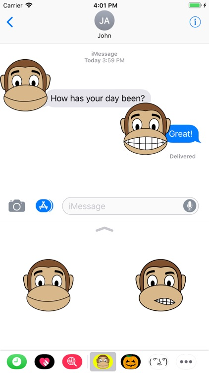 Monkey Emoji Stickers screenshot-4