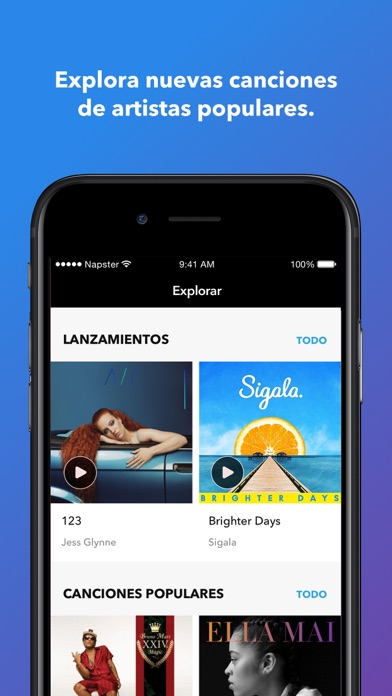 Screenshot for Napster in Chile App Store
