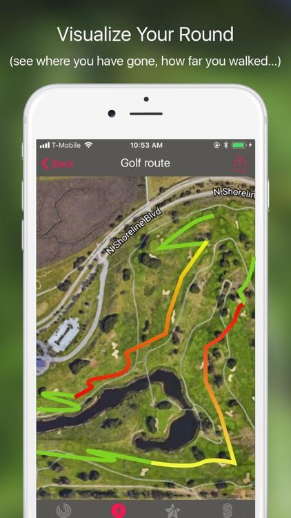 Golf GPS: scorecard range find screenshot-3