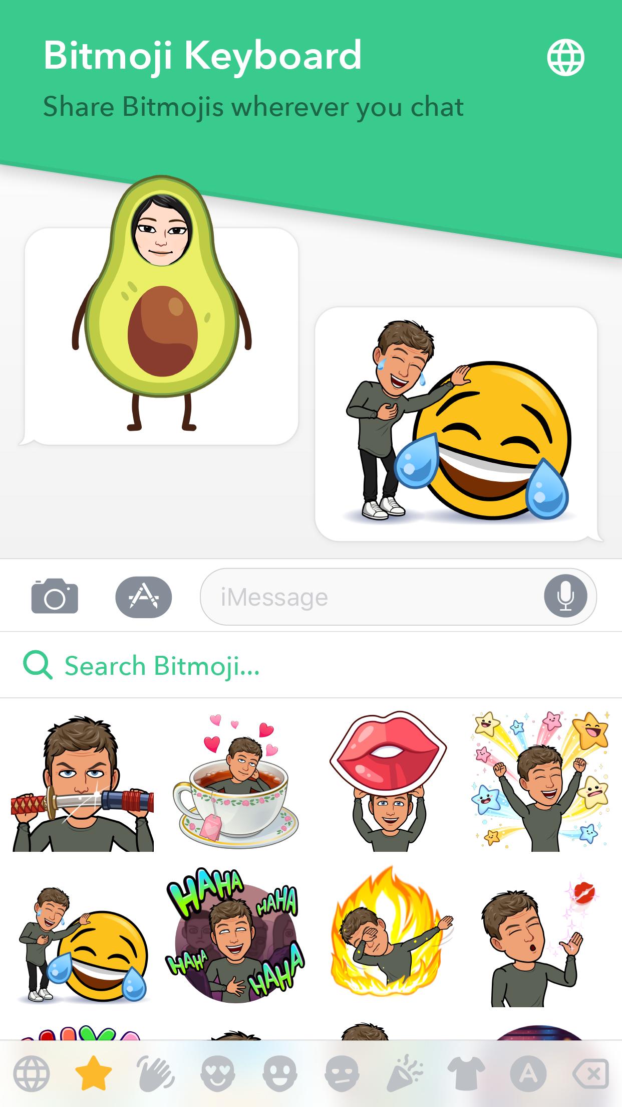 Bitmoji Screenshot