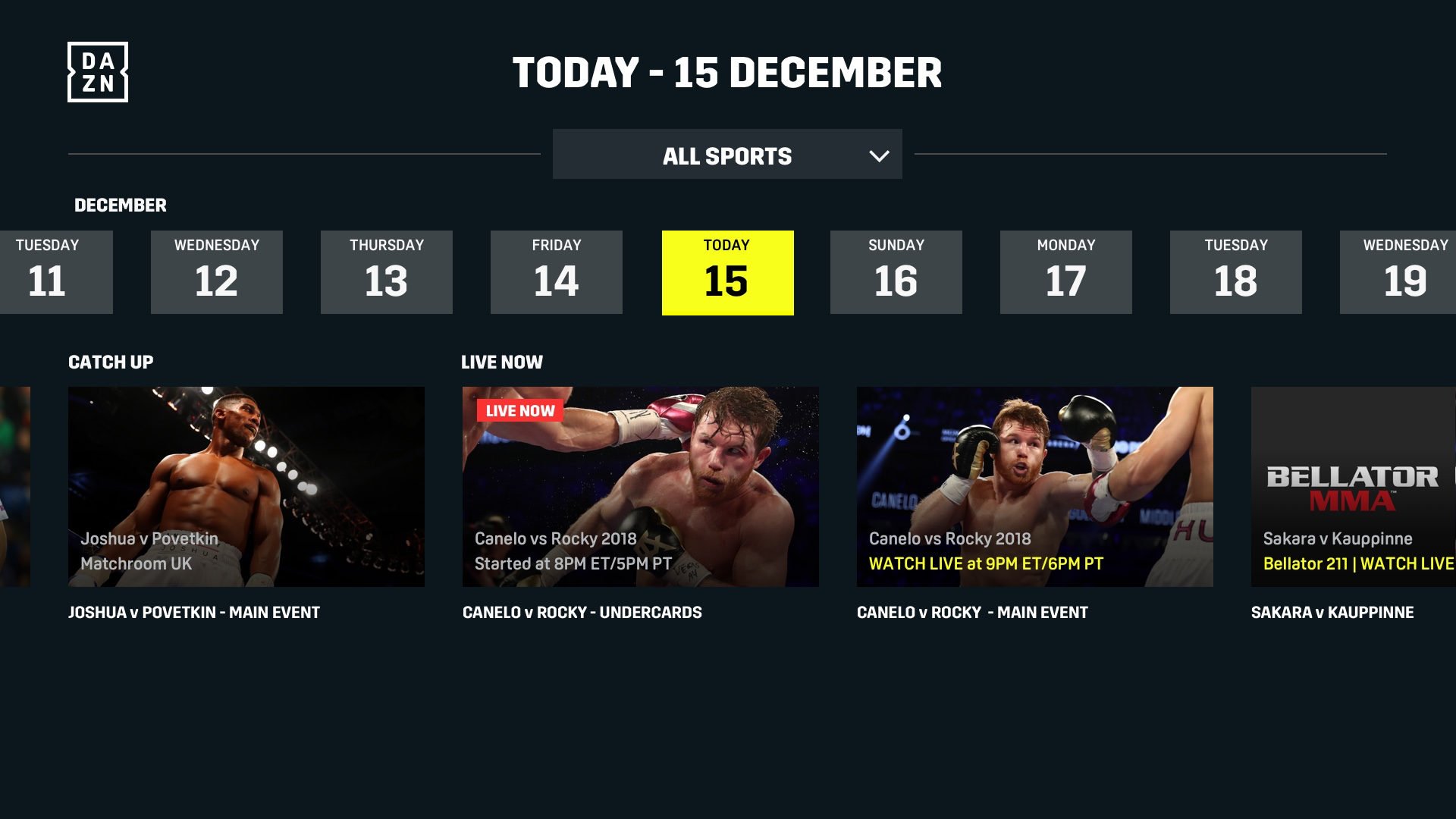 DAZN: Live Sports Streaming screenshot 17