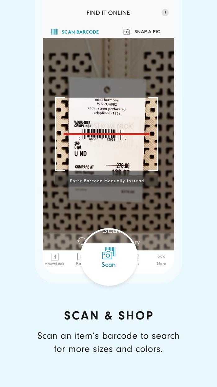 HauteLook | Nordstrom Rack Screenshot
