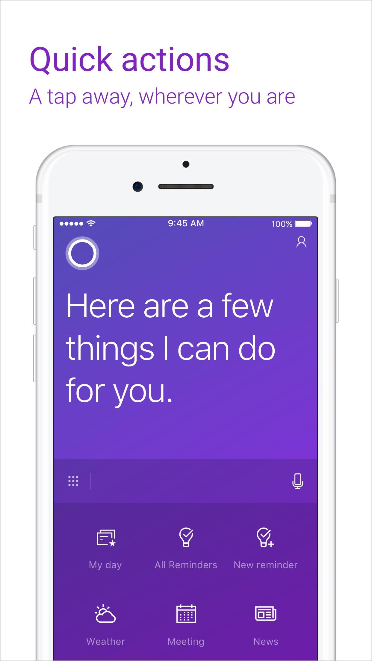 Cortana Screenshot