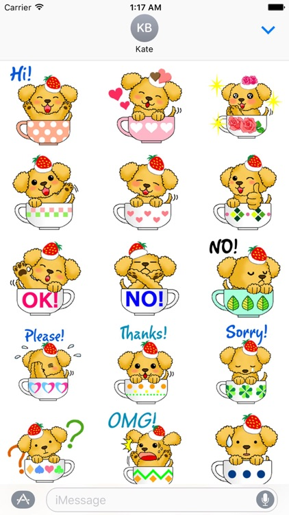 Adorable Dog In Teacup Sticker