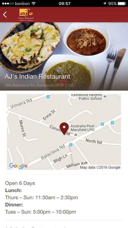 AJ's Indian Restaurant screenshot-3