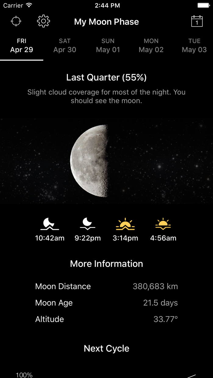 My Moon Phase - Lunar Calendar Screenshot