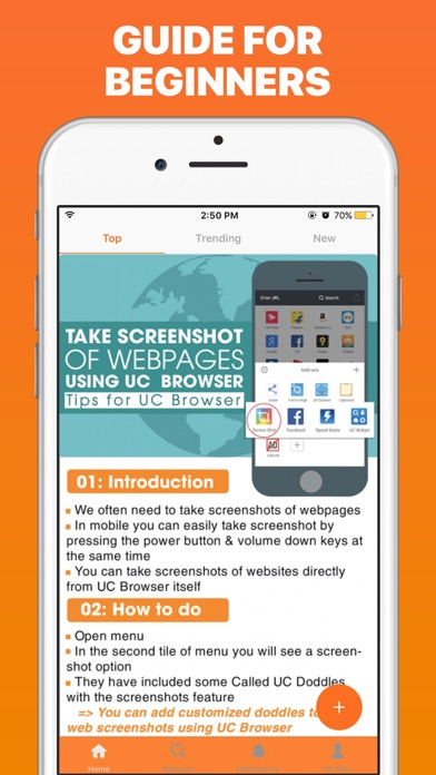 Q&A for UC Browser Screenshot on iOS