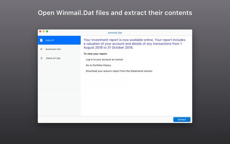 Winmail.dat Email Viewer Screenshot