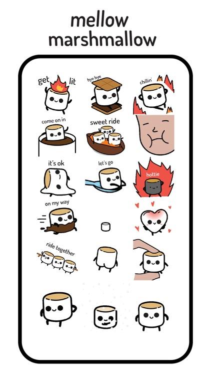Mellow Marshmallow Stickers