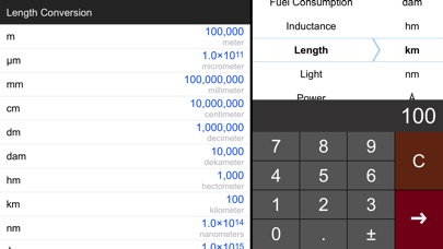 Screenshot #1 pour Unit Converter Pro HD.