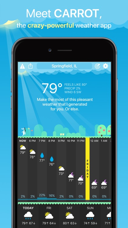 CARROT Weather screenshot-0
