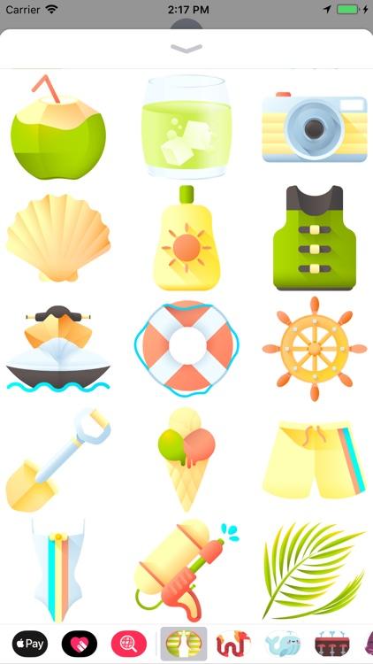 Sun, Sea And Sand Stickers