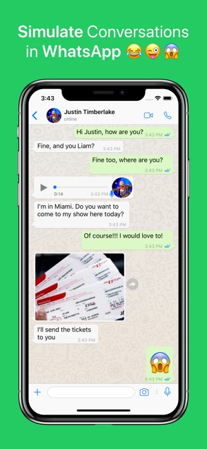 iphone X de whatsapp önizleme