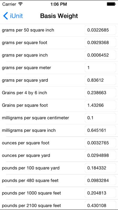 iUnit Measurement Conversion screenshot two