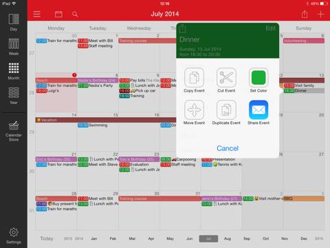 WeekCal for iPad iPad app afbeelding 3