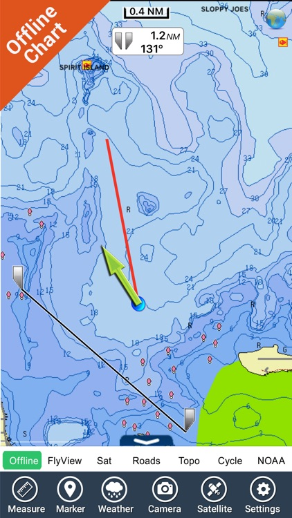 Mille Lacs Lake GPS charts fishing maps Navigator
