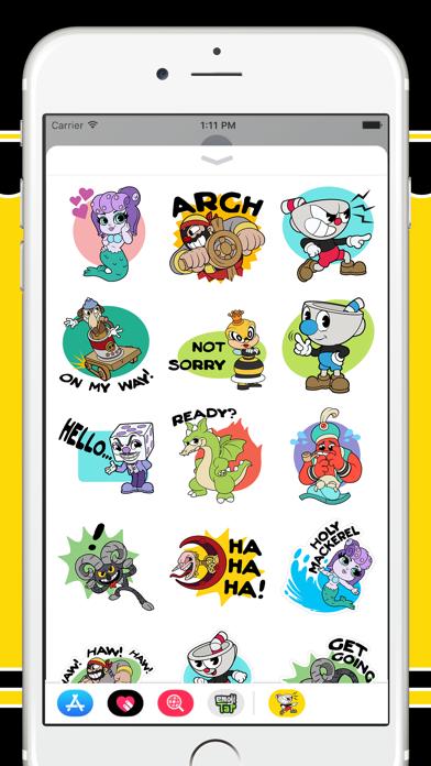 Скриншот №3 к Cuphead Stickers