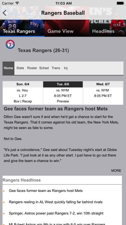 Baseball Texas - Rangers News