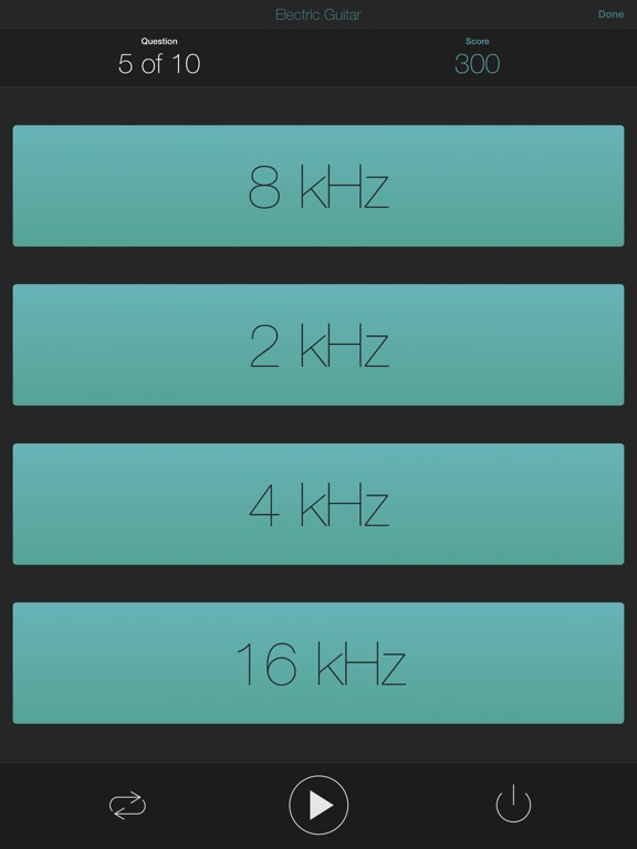 Quiztones: Ear Training for EQ Screenshots