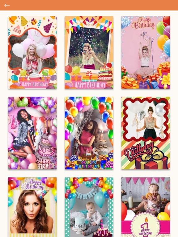 happy birthday photo frames edit