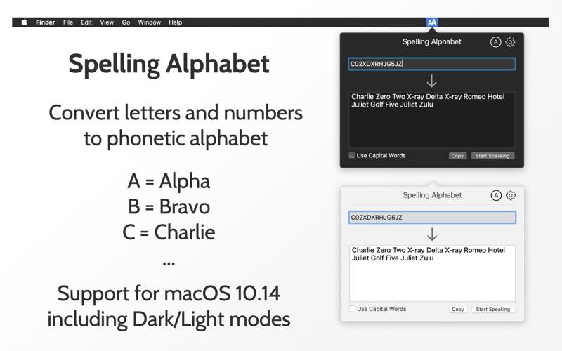 Spelling Alphabet Screenshot