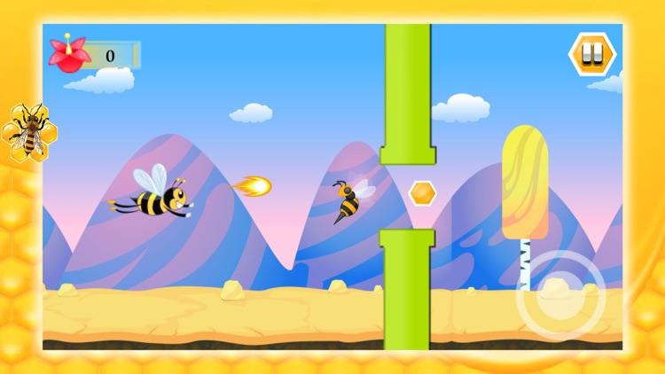 Flying Bee Honey Action Game screenshot-3