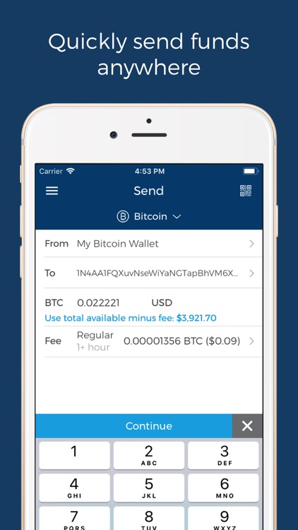 Blockchain Wallet: Bitcoin screenshot-3