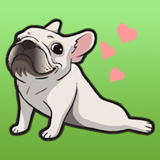 Cute French Bulldog Stickers