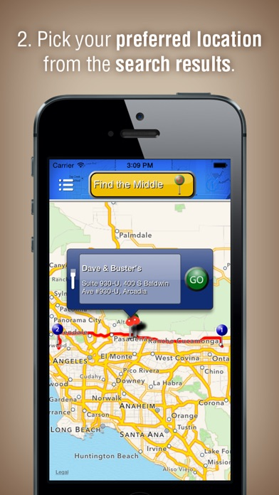 Screenshot for Lets Meet Halfway in United States App Store