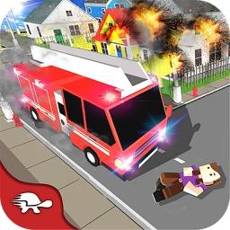 Block City Fire Truck Rescue