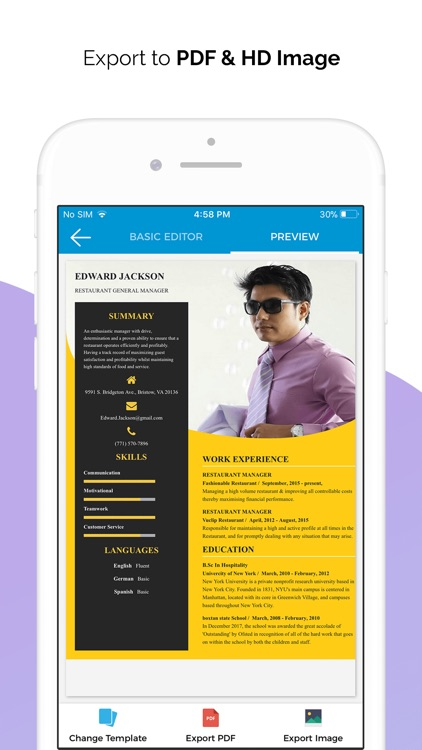 Quick Resume Builder, CV Maker screenshot-4