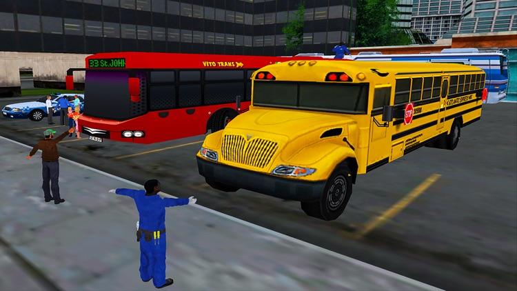 Coach Bus Driving Transport 3D screenshot-3