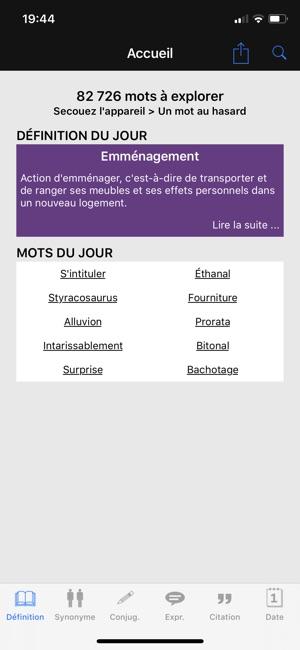 Dictionnaire Linternaute Dans L App Store