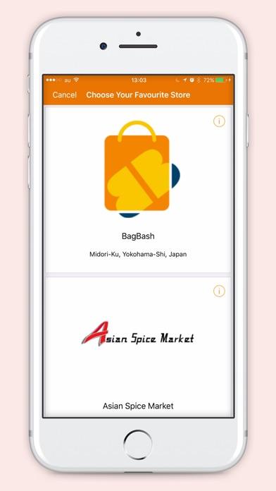 bagbash grocery appのスクリーンショット1