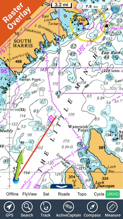Marine : Hebrides HD - GPS Map Navigator
