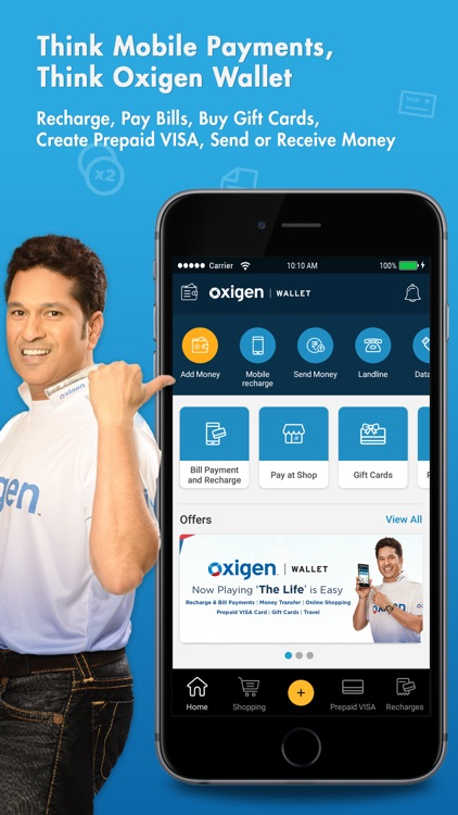 Oxigen wallet-Recharge, Money