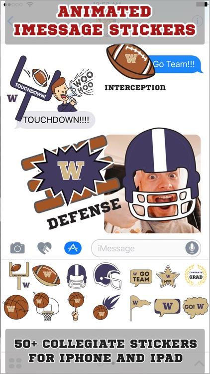 Washington Huskies Animated+Stickers for iMessage