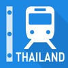 泰国铁路线图 - 曼谷和全泰国