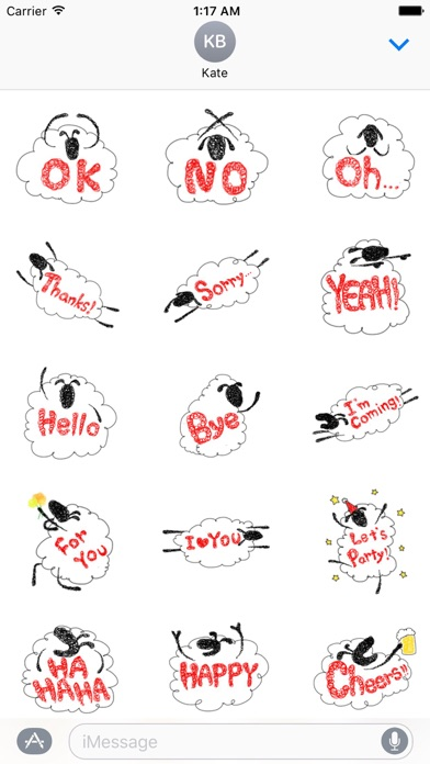 Lovely And Funny Sheep Sticker screenshot 1