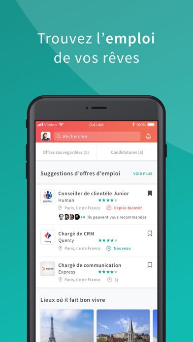 Viadeo - recherche d'emploi screenshot one
