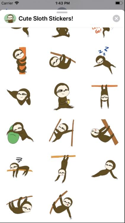 Cute Sloth Stickers ! screenshot-3