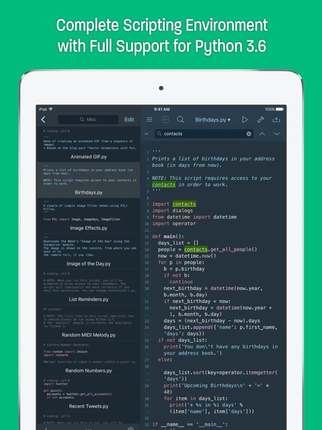 Pythonista 3 Screenshot
