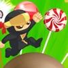 糖果忍者传奇 - 小小忍者跳跃粉碎糖果豪华版游戏