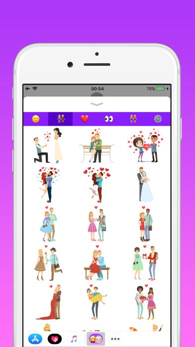 カップルのための愛の絵文字のスクリーンショット2