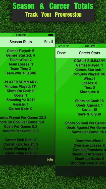 Soccer Stats Tracker Touch screenshot-3