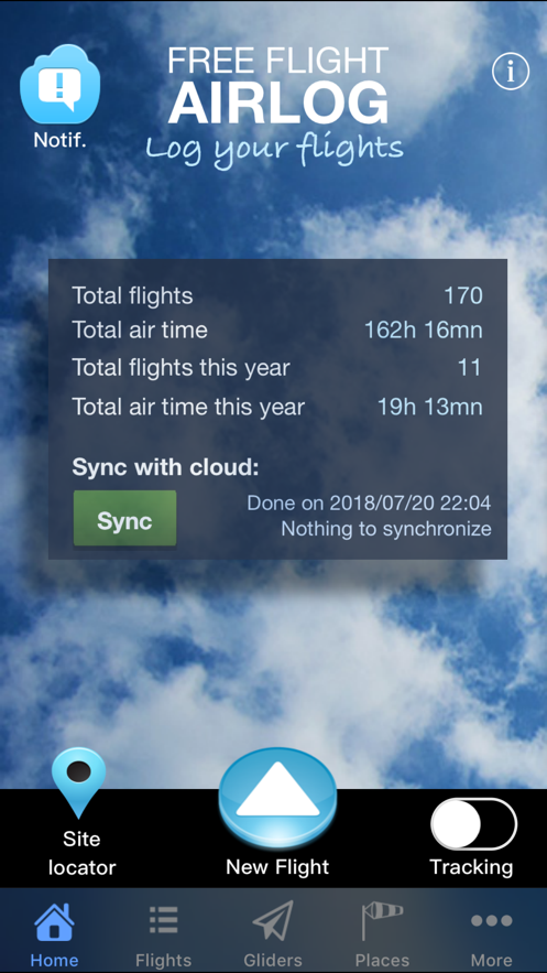 FreeFlight AirLog App 截图
