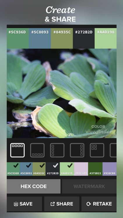 Color Viewfinder - The real time palette generator