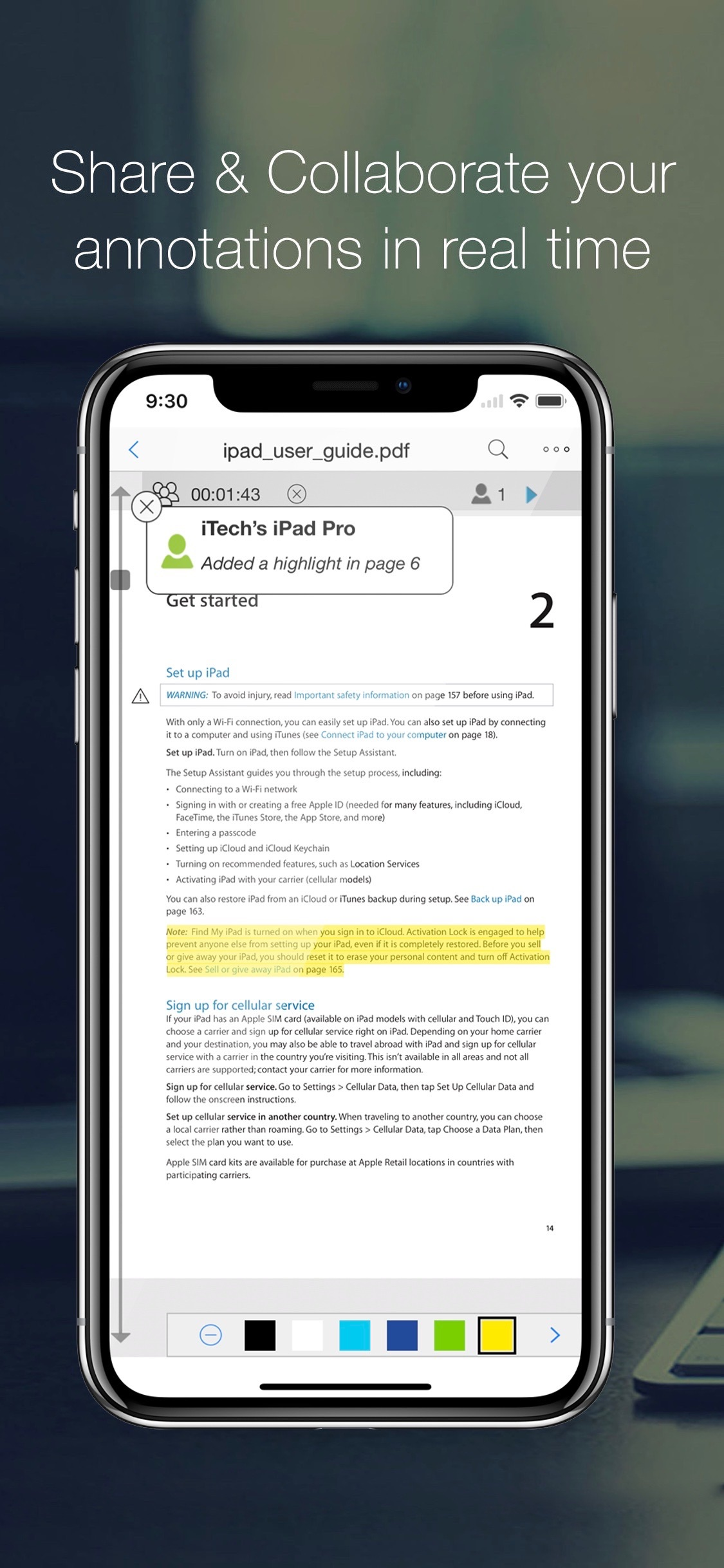 Screenshot do app PDF Reader Pro Edition®