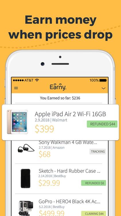 Earny: Money Back on Purchases